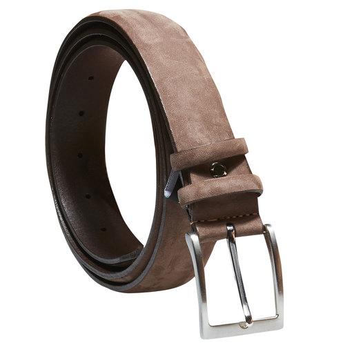 Cintura da uomo in pelle bata, marrone, 954-4120 - 13