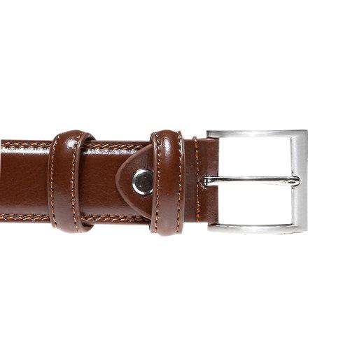 Cintura in pelle da uomo bata, marrone, 954-3121 - 26