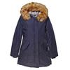 Parka donna con cappuccio e eco-fur bata, blu, 979-9648 - 13