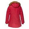 Parka donna con cappuccio e eco-fur bata, rosso, 979-5648 - 26