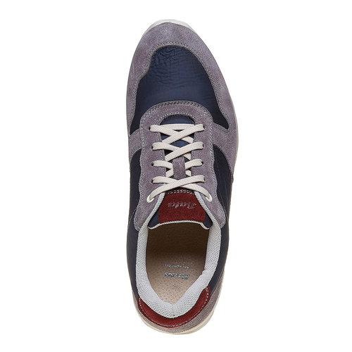 Sneakers eleganti da uomo bata, viola, 849-9692 - 19
