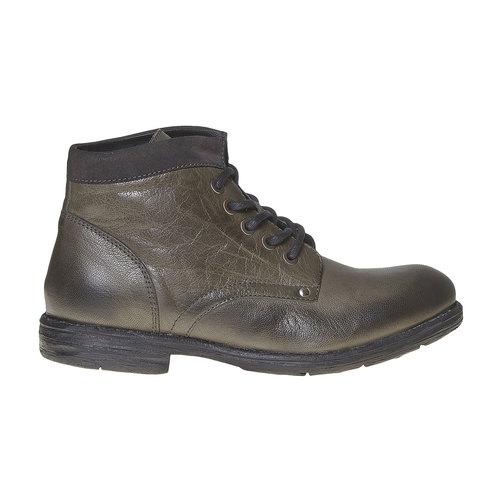 Scarpe di pelle sopra la caviglia da uomo bata, grigio, 894-2704 - 15