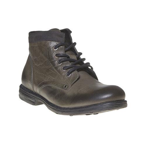 Scarpe di pelle sopra la caviglia da uomo bata, grigio, 894-2704 - 13