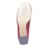 Stivaletti di velluto bordeaux bata, rosso, 799-5643 - 26
