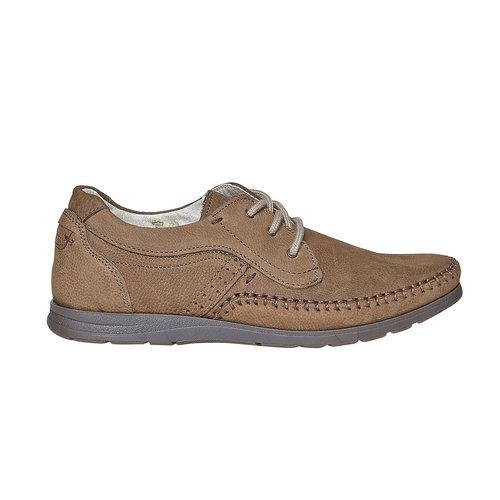 Scarpe basse informali di pelle bata-comfit, marrone, 856-3183 - 15