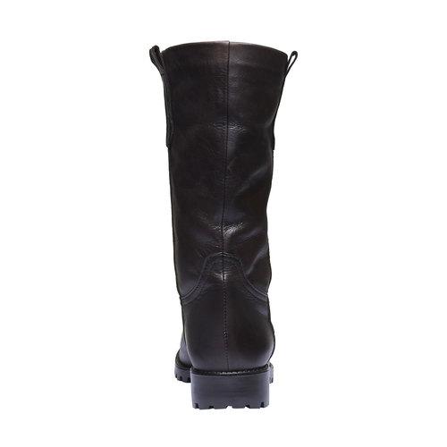 Stivali di pelle bata, marrone, 594-4280 - 17