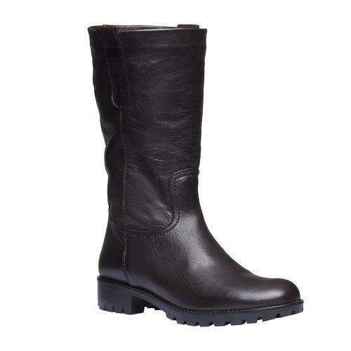 Stivali di pelle bata, marrone, 594-4280 - 13