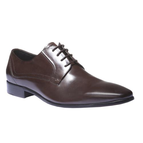 Scarpe basse di pelle in stile Derby bata, marrone, 824-4548 - 13
