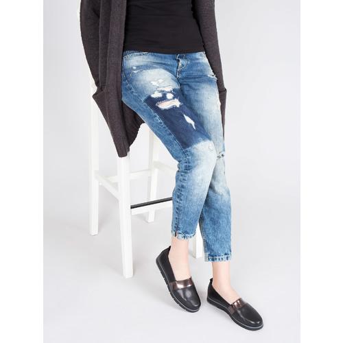 Slip-on da donna di pelle nera flexible, nero, 514-6252 - 18