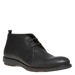 Scarpe da uomo in pelle alla caviglia flexible, nero, 824-6530 - 13