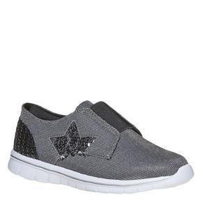 Sneakers da ragazza con strass mini-b, grigio, 329-2214 - 13
