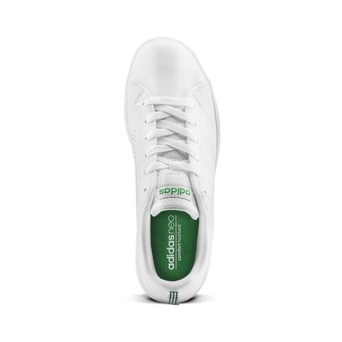 Sneakers bianche da bambino adidas, bianco, verde, 401-1233 - 15