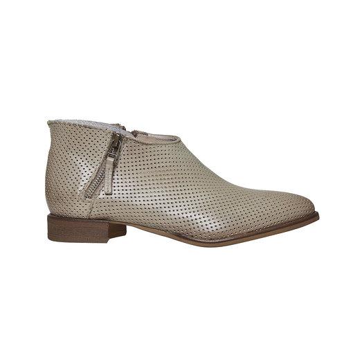 Stivaletti di pelle alla caviglia bata, beige, 594-2400 - 15