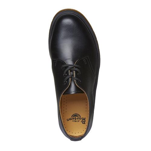 Scarpe basse di pelle con suola appariscente dr-martens, nero, 524-6250 - 19