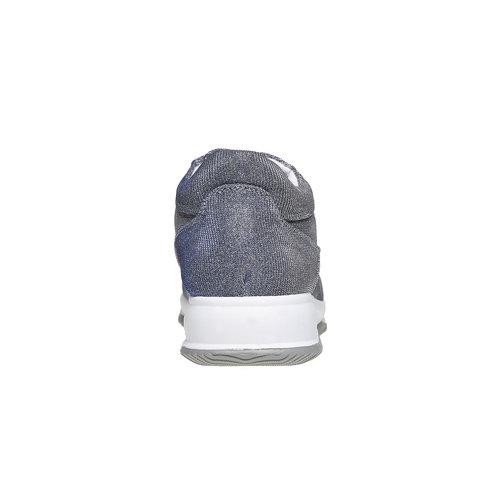 Sneakers da donna con tomaia metallizzata bata, blu, 549-9255 - 17