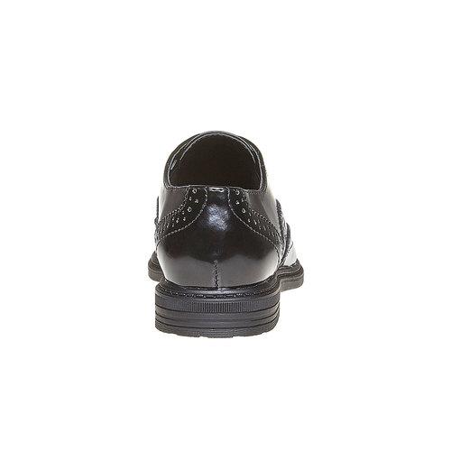 Scarpe basse da bambino con decorazione in stile Brogue mini-b, nero, 321-6192 - 17