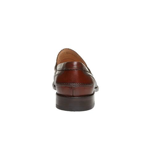 Penny Loafer di pelle da uomo bata-the-shoemaker, marrone, 814-4160 - 17
