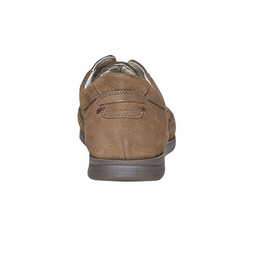 Scarpe basse informali di pelle bata-comfit, marrone, 856-3183 - 17