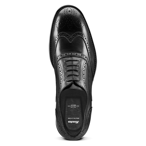 Oxford in pelle bata, nero, 824-6801 - 17