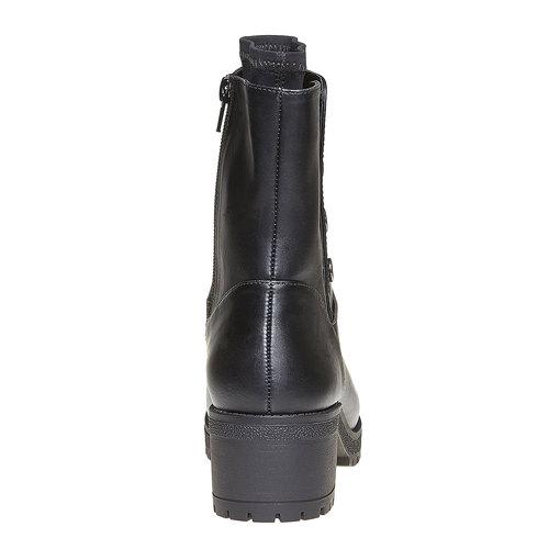 Stivali da donna con tacco massiccio bata, nero, 691-6153 - 17