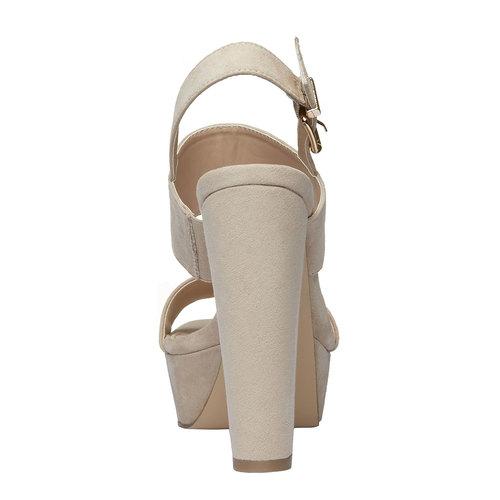 Sandali da donna con tacco massiccio bata, beige, 769-8541 - 17
