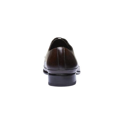 Scarpe basse di pelle in stile Derby bata, marrone, 824-4550 - 17