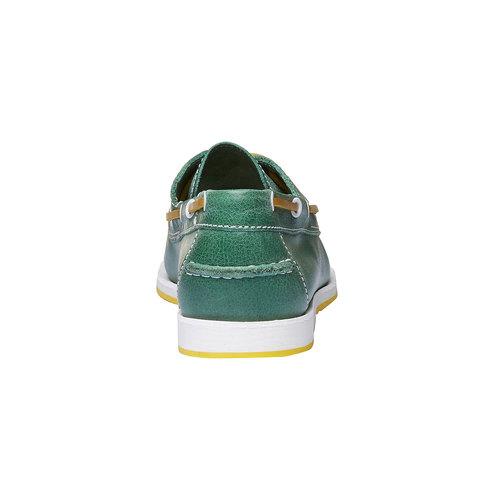 Mocassini in pelle da uomo bata, verde, 854-7188 - 17