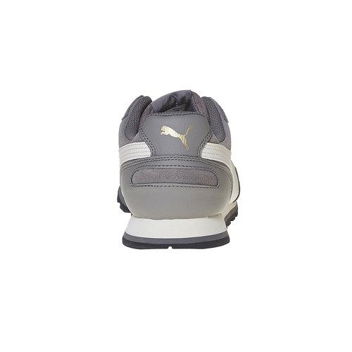 Sneakers in pelle da uomo puma, grigio, 803-2311 - 17