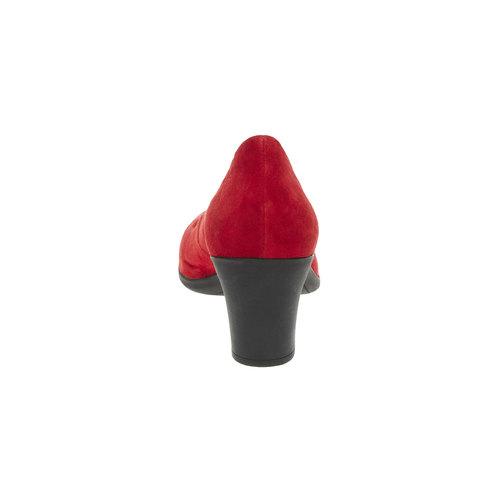 Décolleté rosse di pelle flexible, rosso, 623-5393 - 17