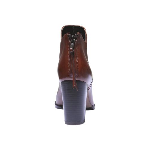 Scarpe di pelle alla caviglia bata, marrone, 794-3576 - 17