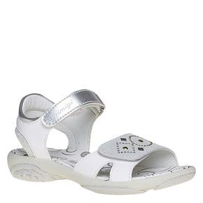 Sandali per bambina con velcro primigi, bianco, 261-1152 - 13