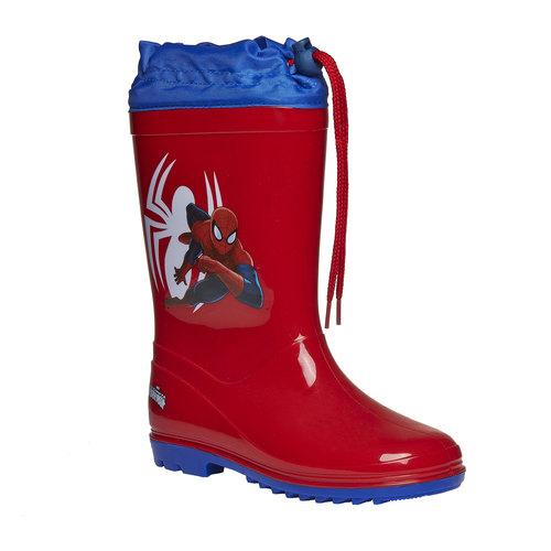 Stivali di gomma Spiderman con cordicella spiderman, rosso, 392-5190 - 13