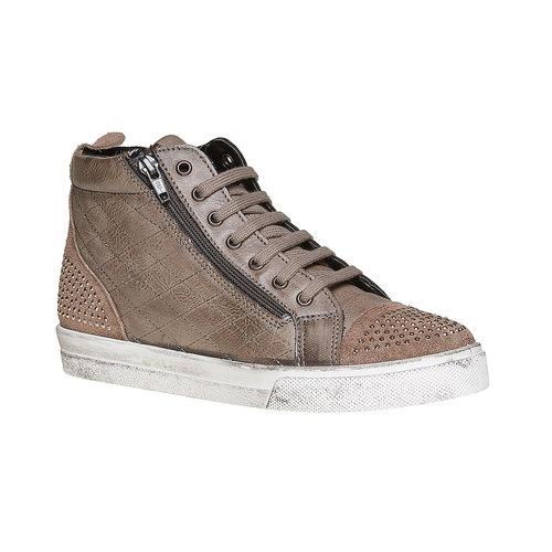Sneakers alla caviglia con cuciture north-star, grigio, 543-2127 - 13
