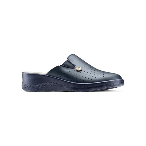 Slip-on in pelle da donna bata-comfit, blu, viola, 574-9805 - 13