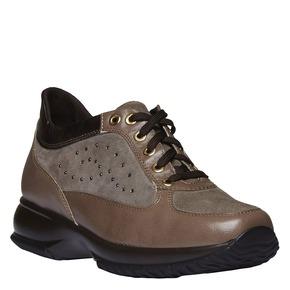 Sneakers da donna di pelle bata, beige, 623-8229 - 13