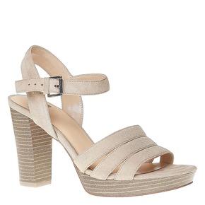Sandali da donna con strisce bata, beige, 769-4484 - 13