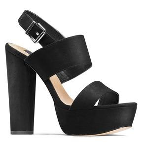 Sandali con tacco massiccio bata, nero, 769-6541 - 13