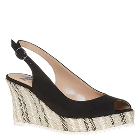 Sandali con lati chiusi bata, nero, 769-6522 - 13