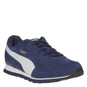 Sneakers da uomo in pelle puma, blu, 803-9311 - 13