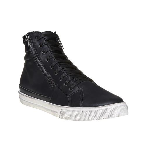 Sneakers da uomo alla caviglia con cerniere north-star, nero, 841-6503 - 13