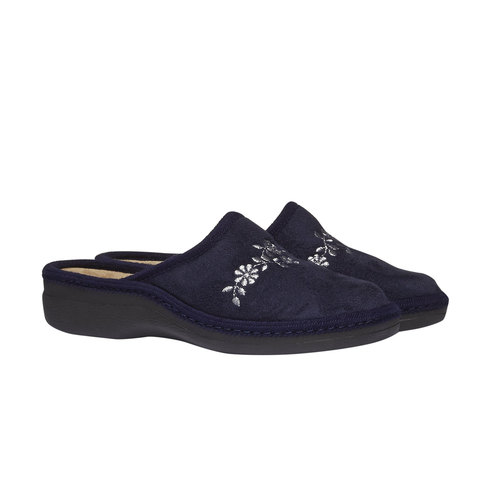 Pantofole da donna bata, viola, 579-9233 - 26