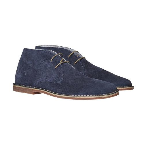 Scarpe scamosciate in stile Desert bata, blu, 843-9267 - 26