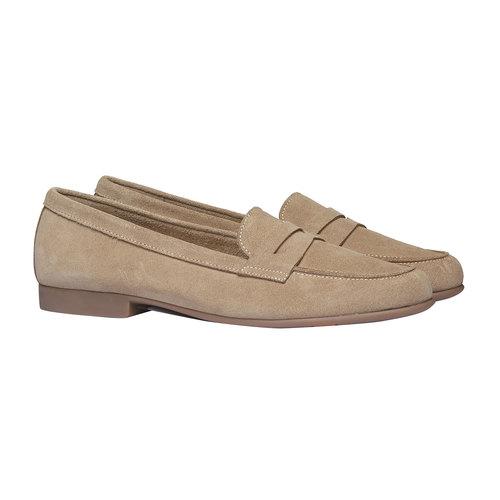Penny Loafer di pelle flexible, beige, 513-8196 - 26
