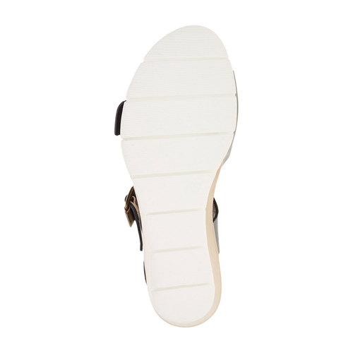 Sandali da donna con strisce weinbrenner, blu, 664-9193 - 26