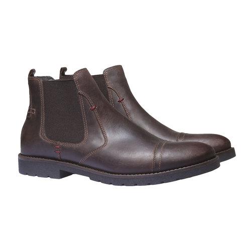 Scarpe in pelle in stile Chelsea bata, marrone, 894-4197 - 26