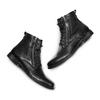 Scarpe di pelle alla caviglia bata, nero, 894-6449 - 26