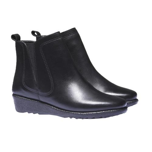 Scarpe da donna in pelle alla caviglia sundrops, nero, 594-6505 - 26