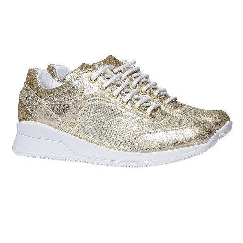 Sneakers con riflessi dorati north-star, giallo, 549-8232 - 26
