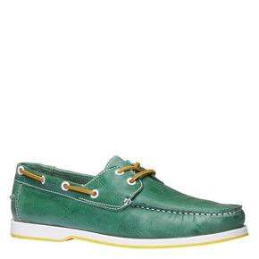 Mocassini in pelle da uomo bata, verde, 854-7188 - 13