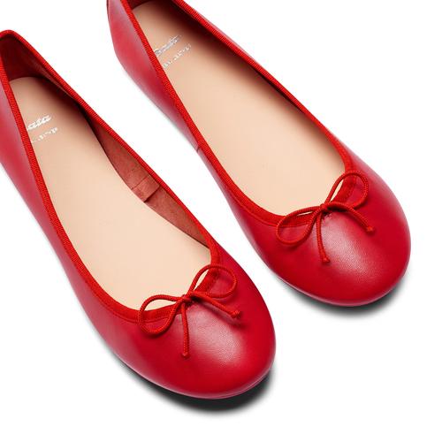 Ballerine in pelle bata, rosso, 524-5144 - 26